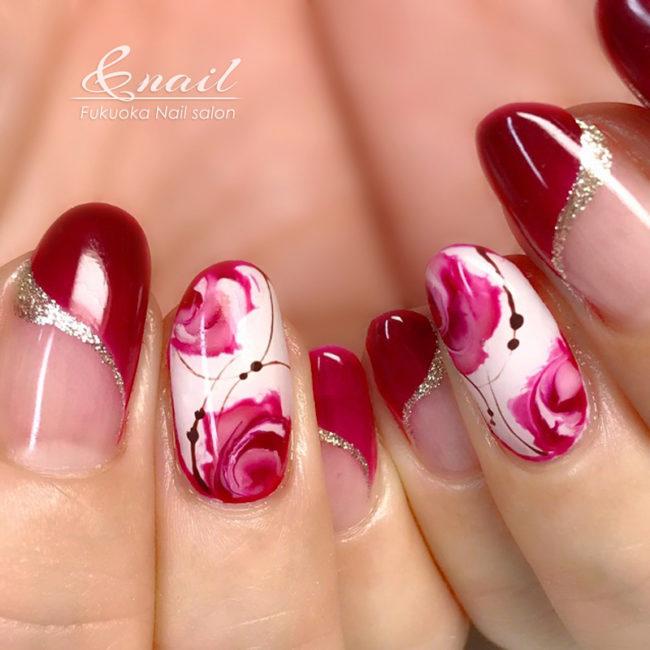 薔薇ネイル
